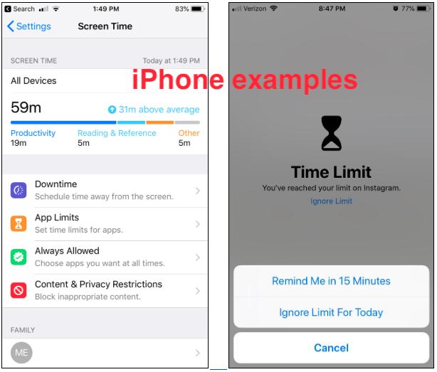 iPhone Screen Time